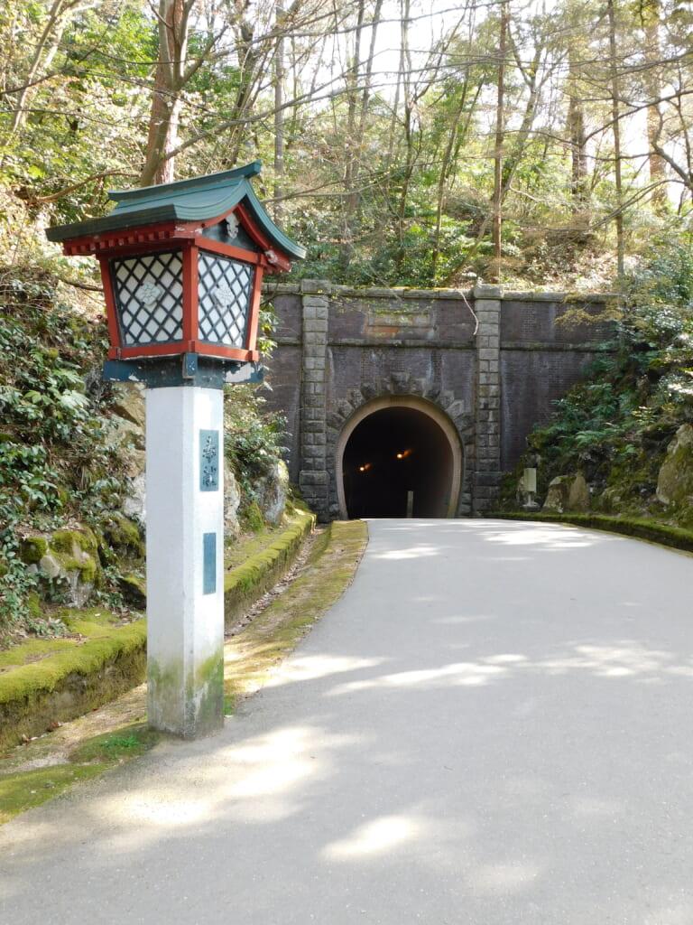Der Tunnel im Yahiko-Park.