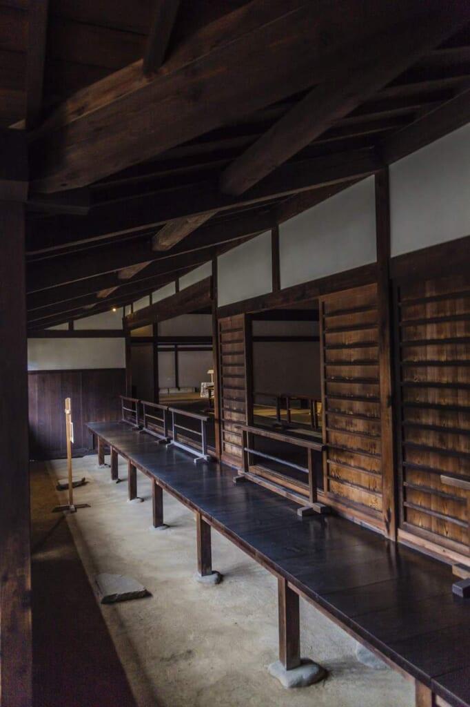 Die hölzerne Architektur des Takayama Jinya.