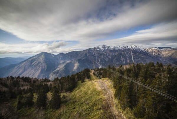 Hokuriku Arch Pass: Ausblick von der Shinhotaka Seilbahn.