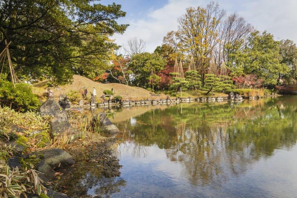 Der Yokokan Garten in der Präfektur Fukui, erreichbar mit dem hokuriku Arch Pass.