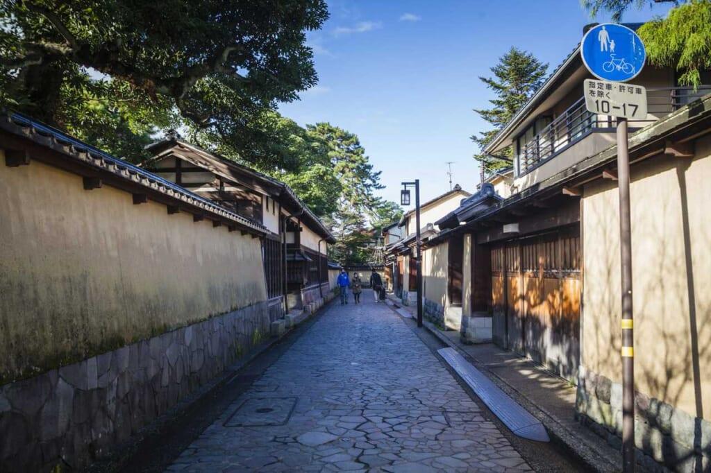 Der Nagamachi Samurai Distrikt in der Stadt Kanazawa.