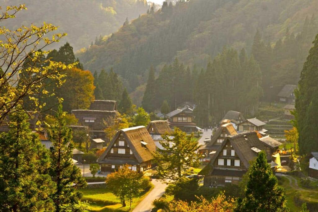 Das Dorf Gokayama in der Präfektur Toyama.