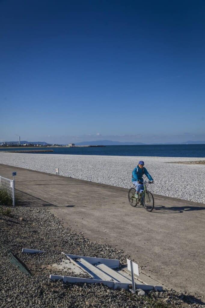Der Strand am  Sennan Long Park.