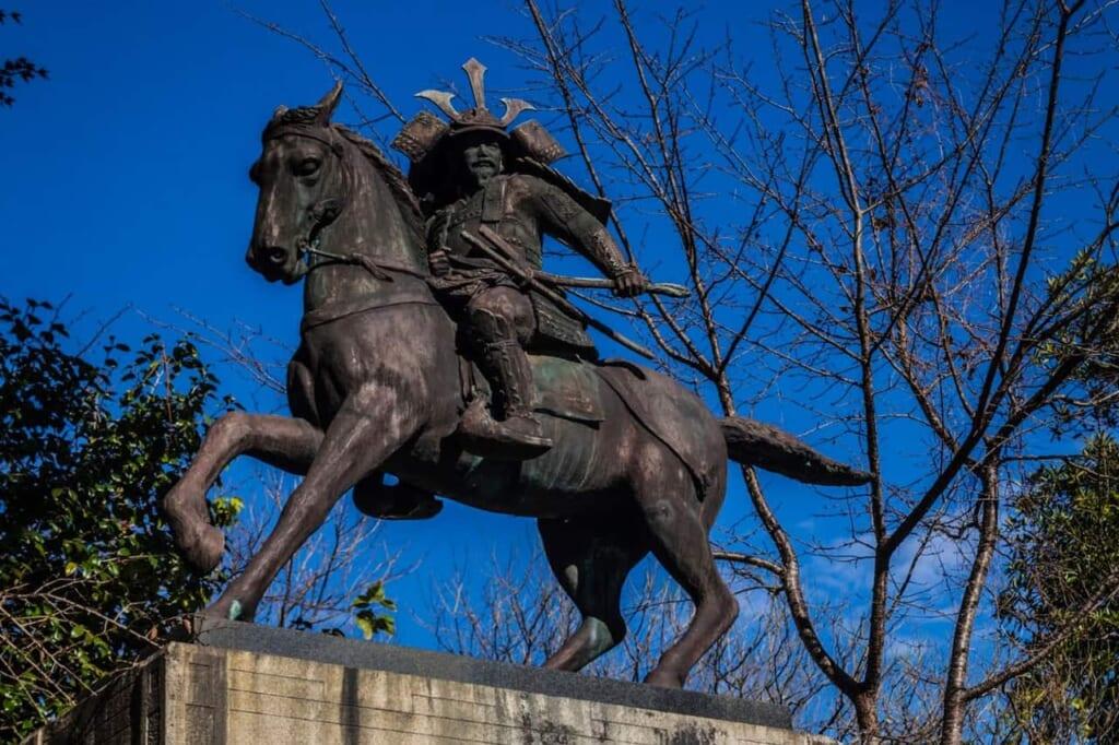 Der Samurai Masashige Kusunoki.