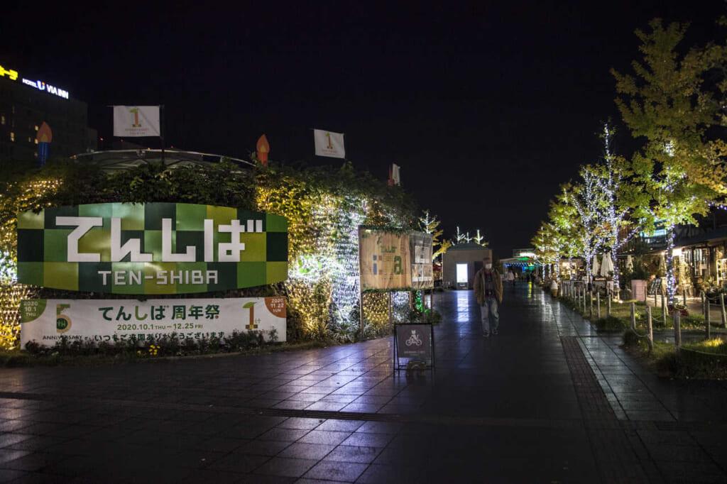 Der Tennoji Park erleuchtet hell.