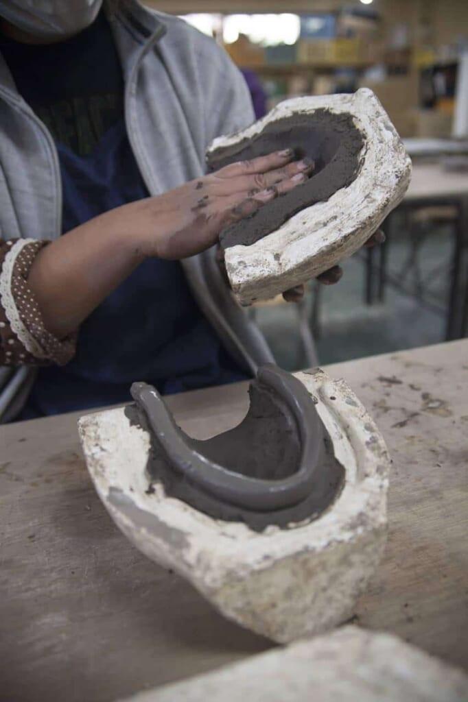 Herstellung eines Tanuki.