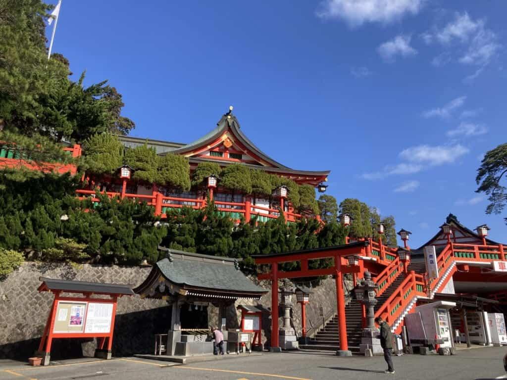 Der Taikodani Inari-Schrein in der Präfektur Shimane.