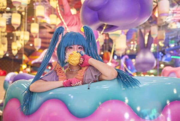 Das Kawaii Monster Café in Harajuku, Tokio, Japan.
