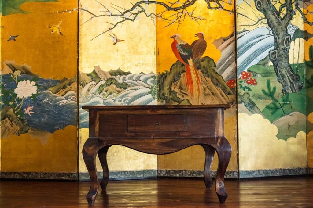 Traditionelle japanische Einrichtung im Atagoya.