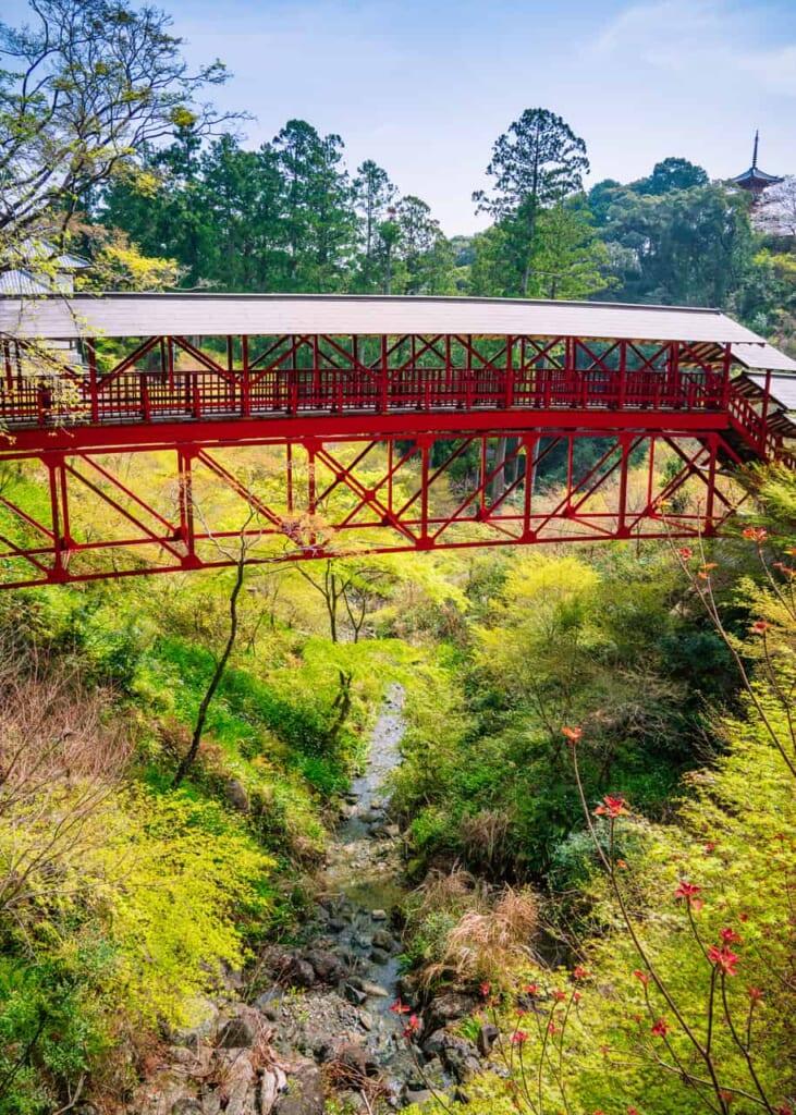 Brücke am Hoko-ji Tempel in Hamamatsu.