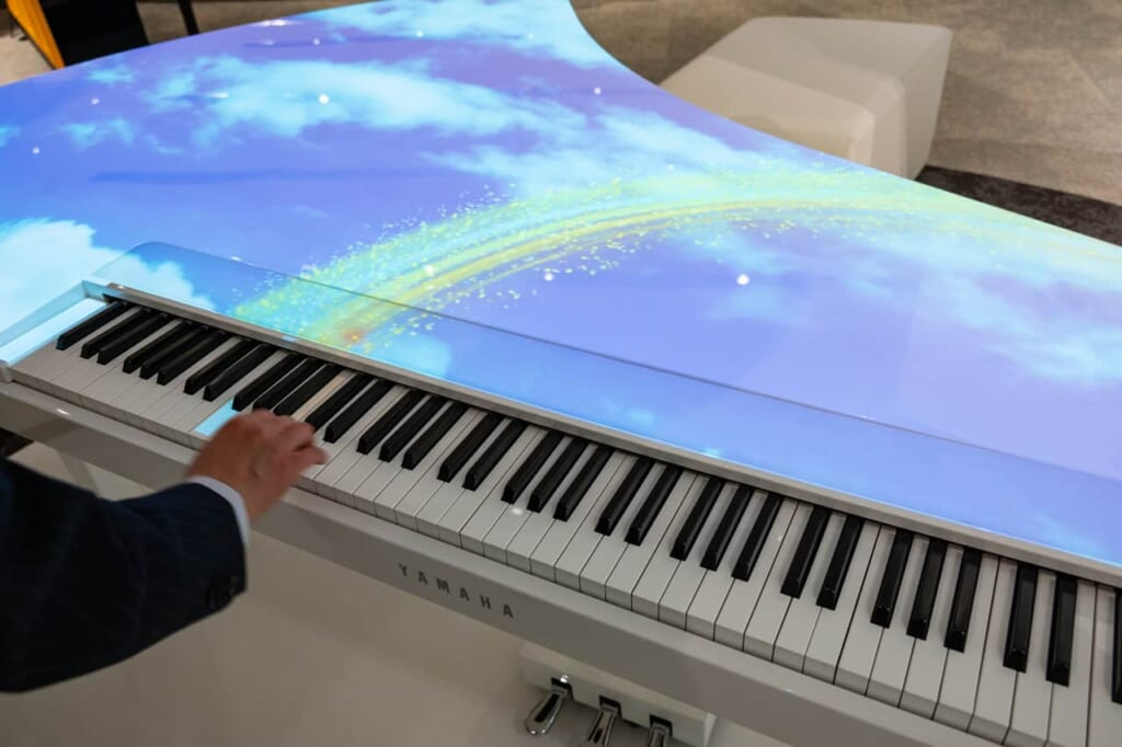 Keyboard in der Yamaha Innovation Road.