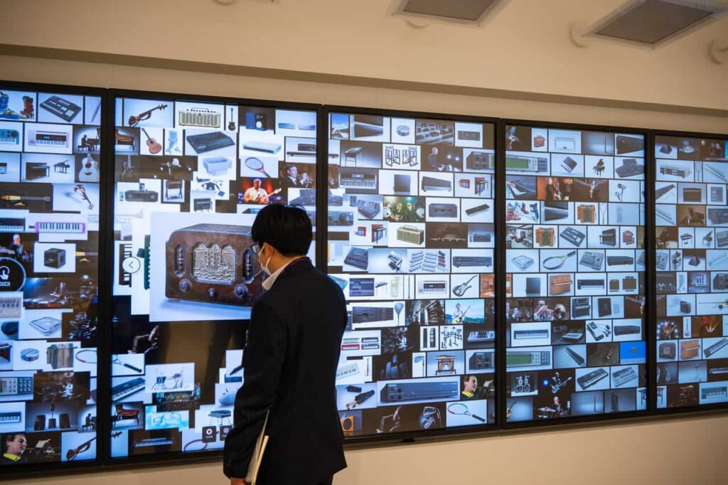 Das interaktive Yamaha Innovation Road Museumin der Stadt Hamamatsu, Präfektur Shizuoka.