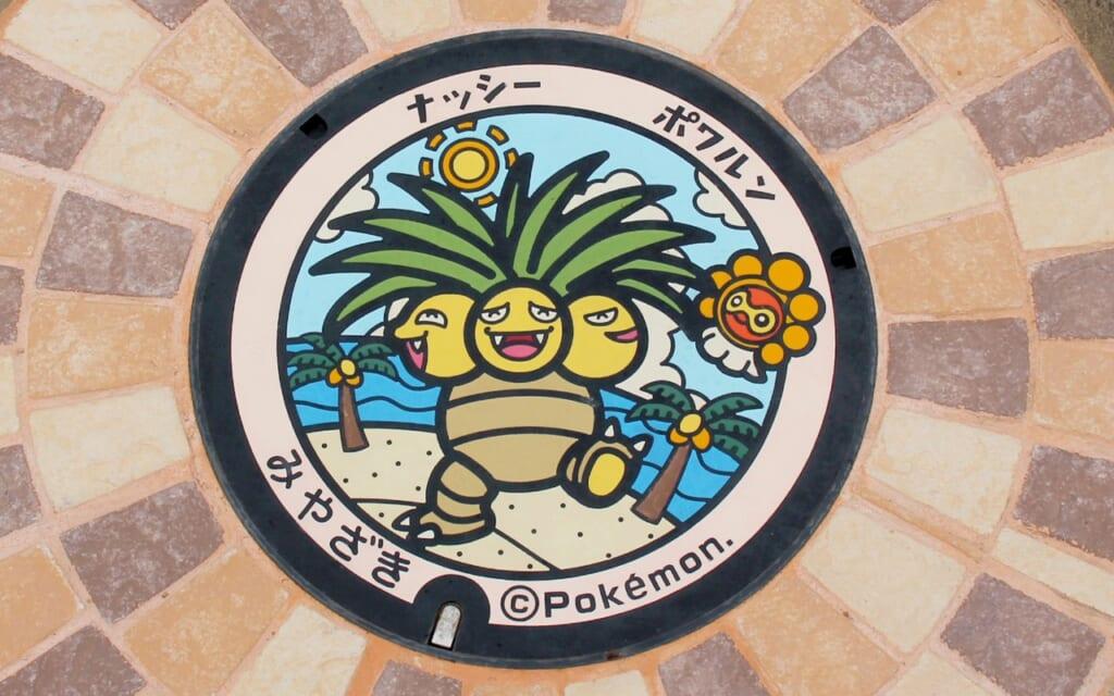 Pokémon-Gullydeckel: Ein Pokefuta in Miyazaki.