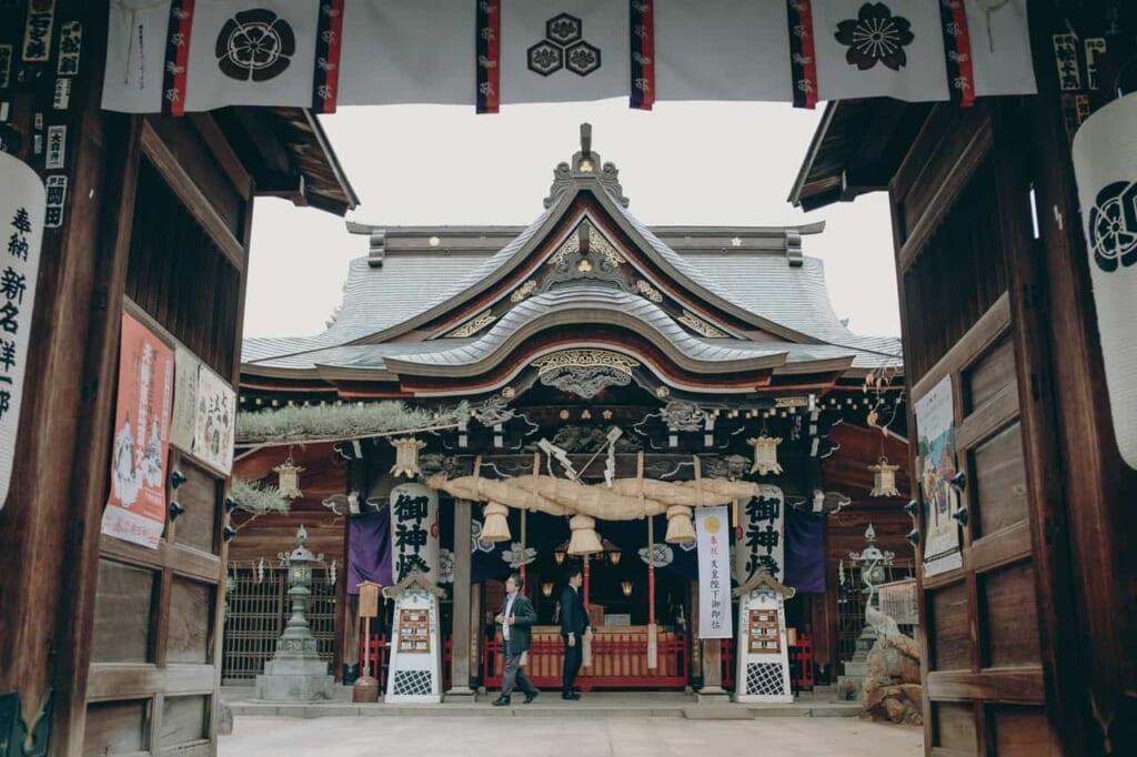 Der Haiden am Kushida Schrein in Fukuoka.