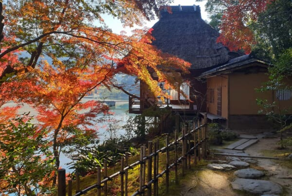 Garyu Sanso in der Stadt Ozu, Präfektur Ehime.