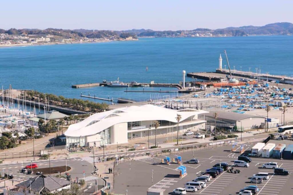 Porto di Enoshima dall'alto