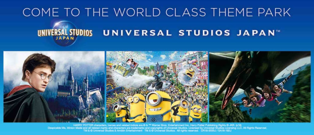 Banner pubblicitario Universal Studios in Giappone