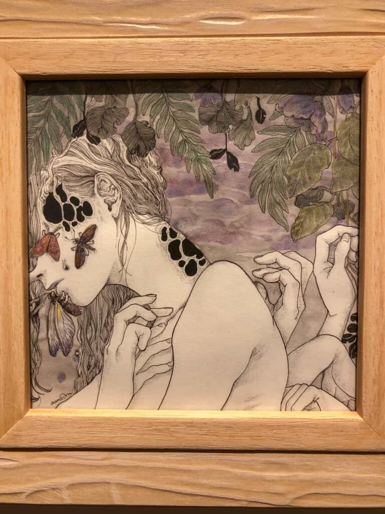 Disegno esposto alla galleria d'arte Irorimura