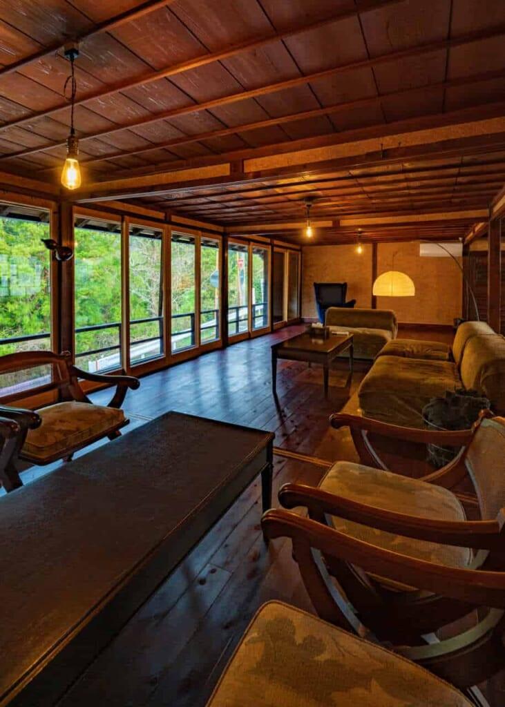 Interno della casa giapponese tradizionale Atagoya