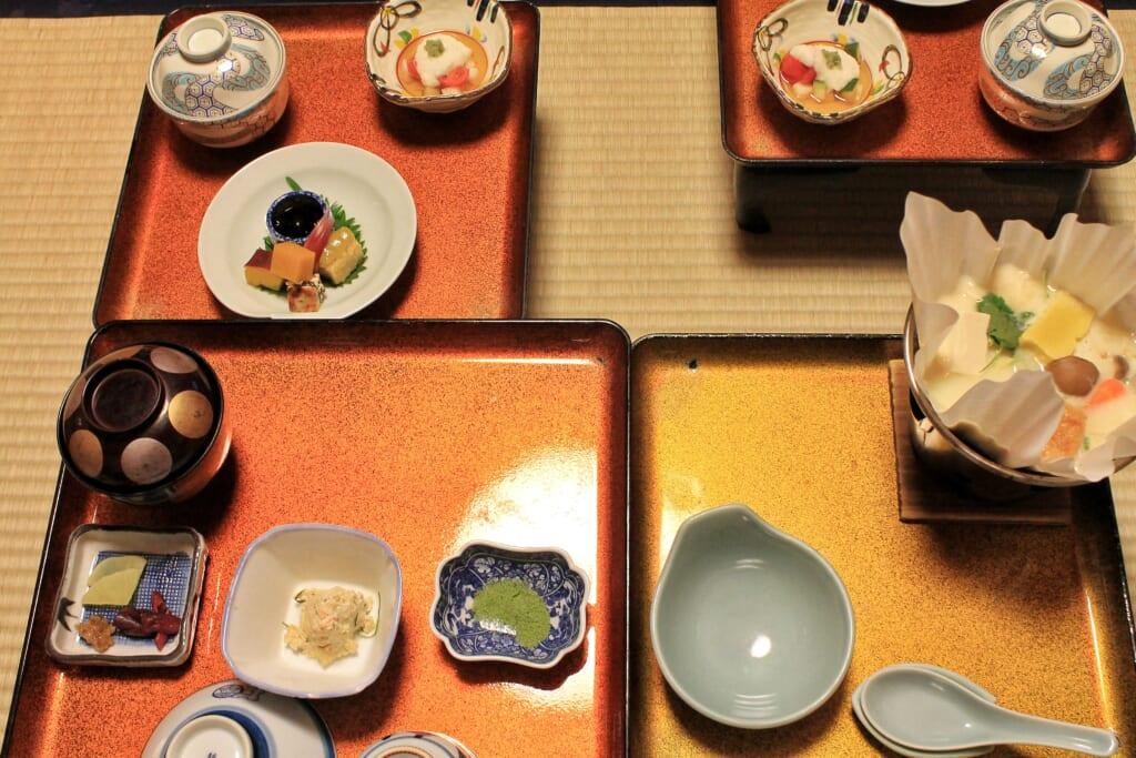 Cena a base di shojin ryori al tempio giapponese