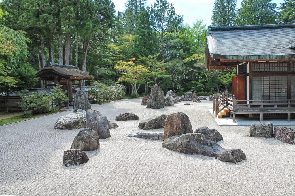 Giardino Banryutei tempio Kongobuji monte Koya