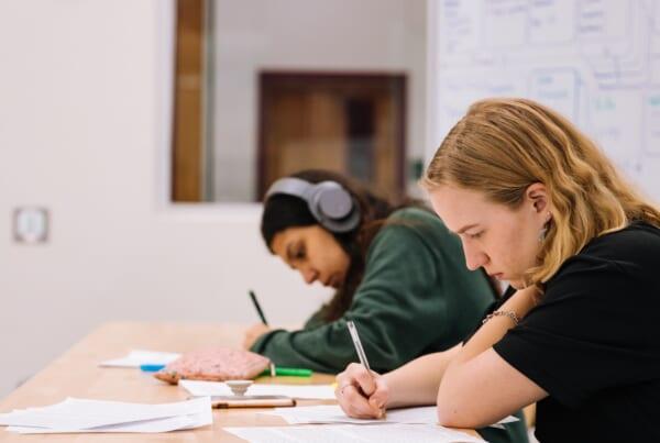 studenti in una scuola di giapponese