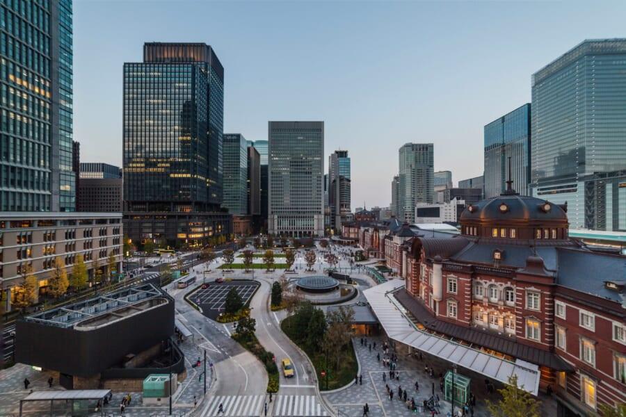 Vista sulla stazione di Tokyo