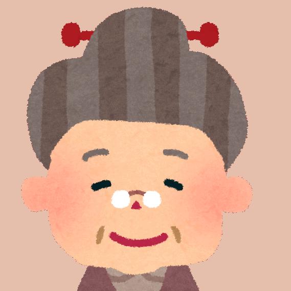 Illustrazione di una signora anziana