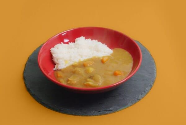 Piatto di riso al curry giapponese